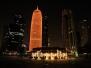 Doha nocą, Katar, 2017